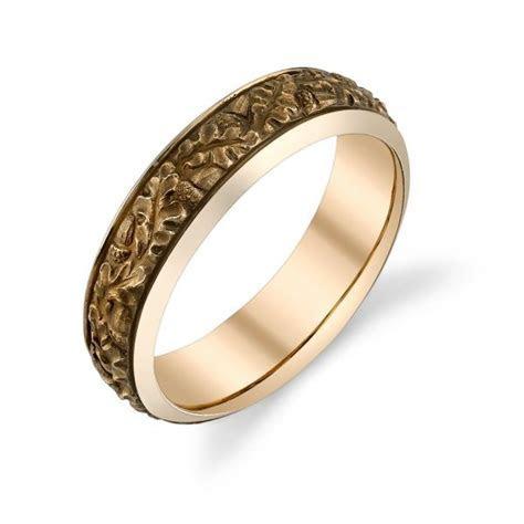 Van Craeynest hand engraved Art Deco men's wedding ring