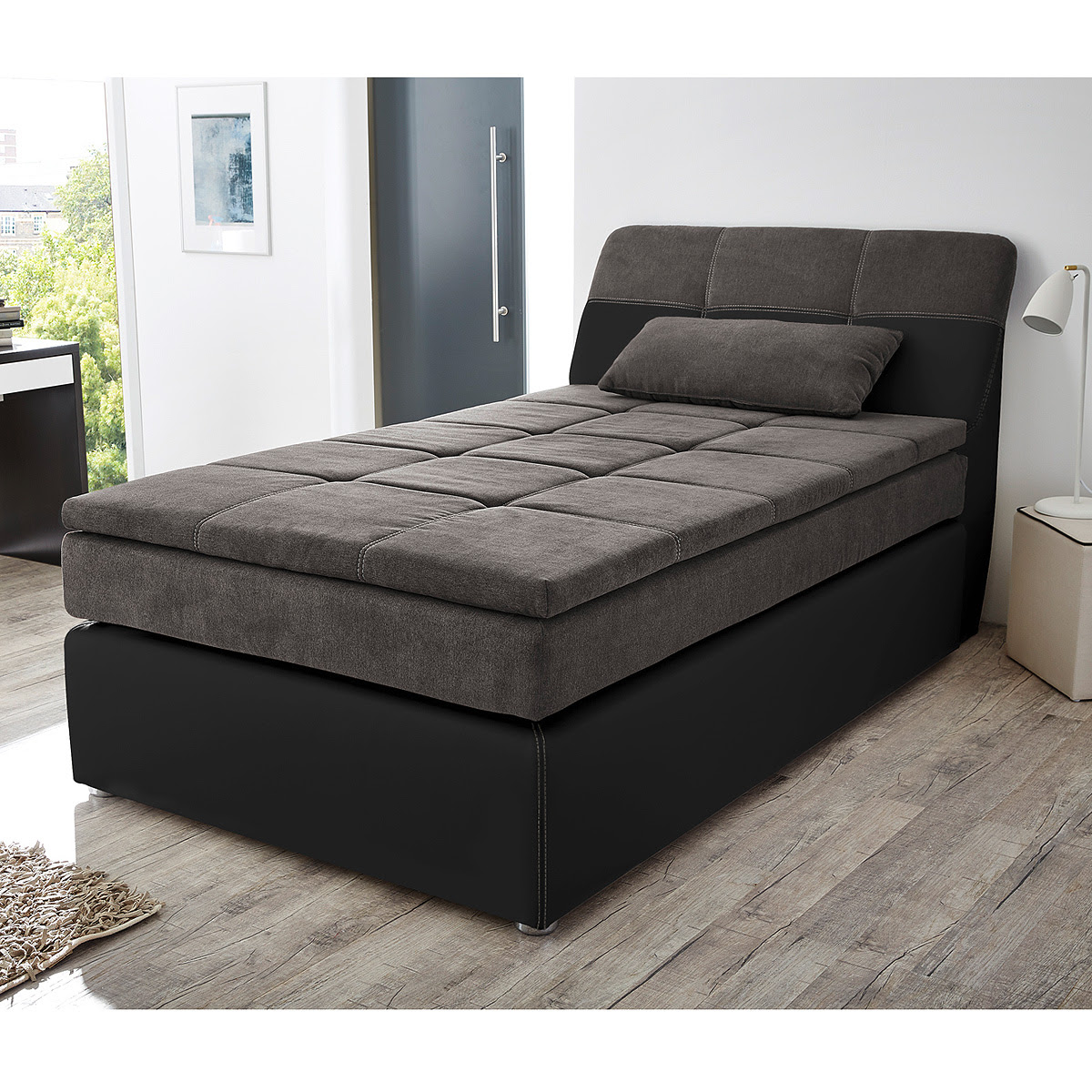 boxspringbetten 120x200. Black Bedroom Furniture Sets. Home Design Ideas