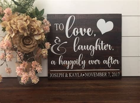 Wedding Ideas Hand In Heart To Personalized Rustic Sign On
