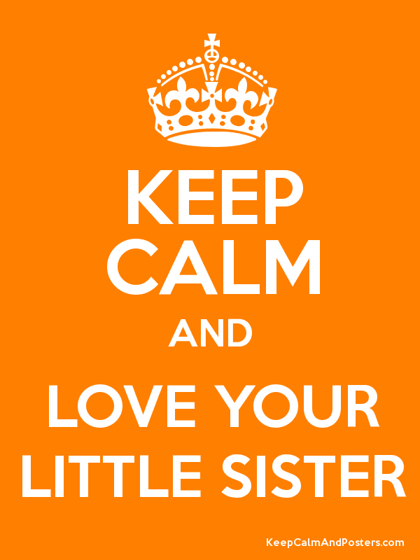 Keep Calm And Love Your Little Sister Keep Calm And Posters