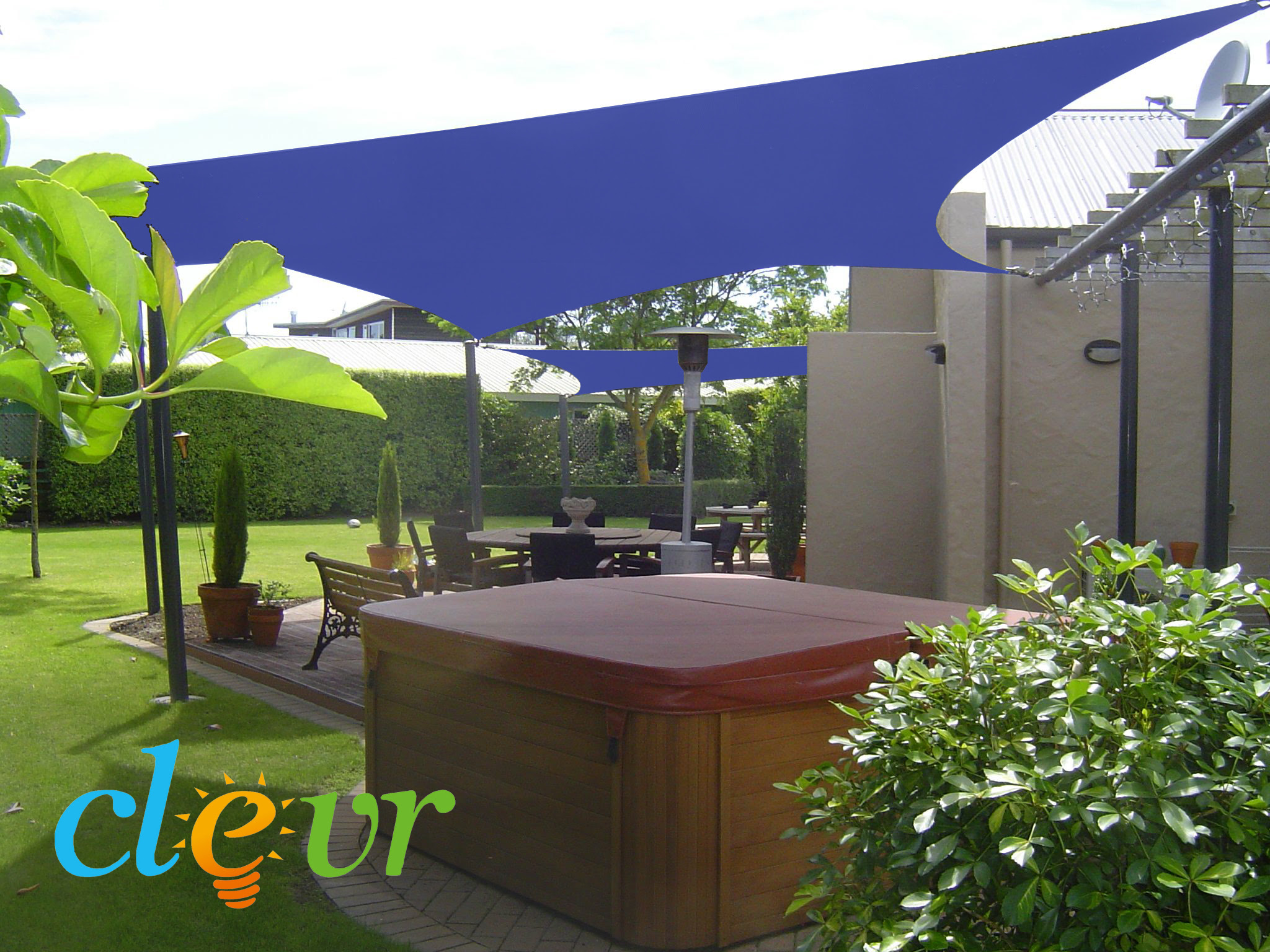 New Premium Clevr Sun Shade Canopy Sail 12' / 18' Square ...