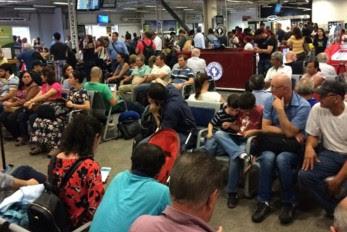 Torre de controle apresenta problema, suspende voos, causa tumulto e irrita passageiros no aeroporto Marechal Rondon