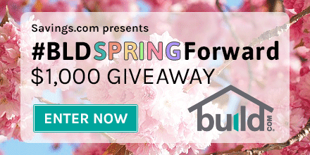 Build.com $1,000 Giveaway. Ends 3/23. 10 winners.