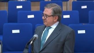 """Carlos García Revenga, secretari de Cristina de Borbó a la Casa del Rei, declarant aquest dimecres al judici del """"cas Nóos"""""""