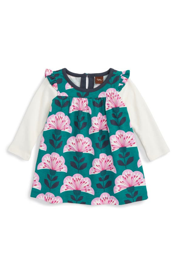 Main Image - Tea Collection Double Decker Dress (Baby Girls)