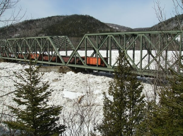 Ice Jam on the Restigouche River.