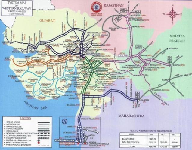 Western Railway Map Western Railway Map | Bedroom 2018
