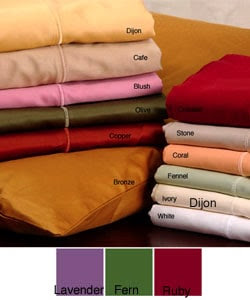 Sateen 600 Thread Count Solid Sheet Set (King - Coral) | Overstock.