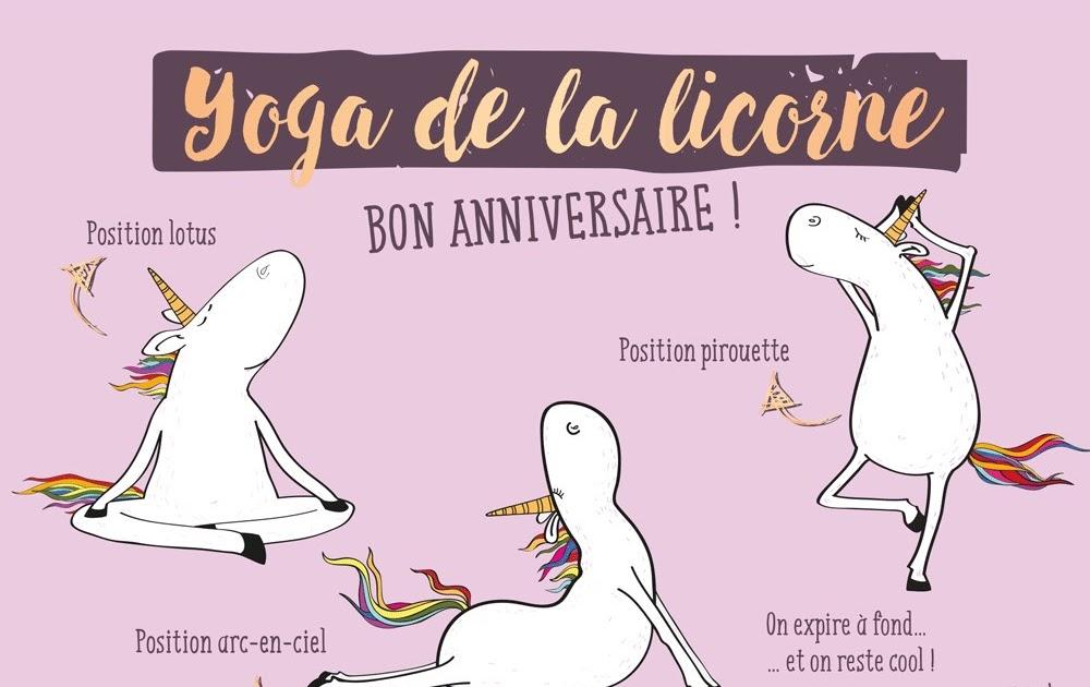 Carte Joyeux Anniversaire Licorne A Imprimer Dorla Annika