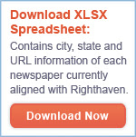 Download list of newspapers aligned with Righthaven