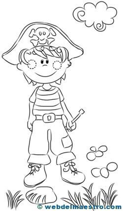 Dibujos Piratas Infantiles Para Colorear Imagesacolorierwebsite