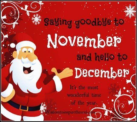 Image result for Hello December goodbye November