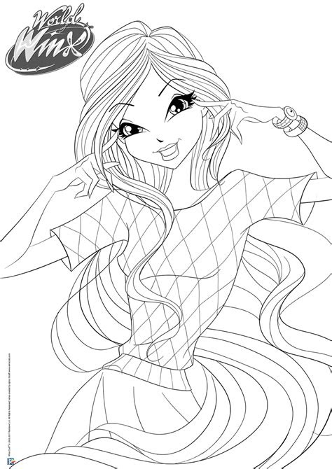 world  winx coloring pages casual outfit