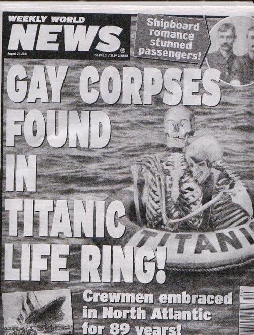 Mayat Pasangan Gay Di Titanic