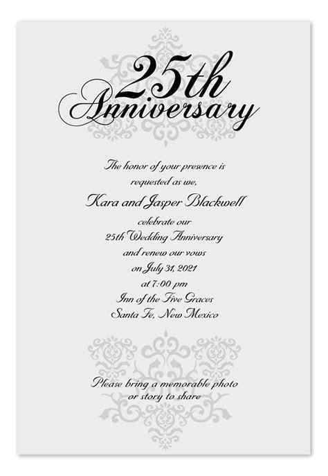 Elegant Anniversary   Anniversary Invitations by
