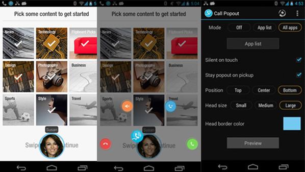 """من خلاله يتم عرض أي مكالمة واردة على هيئة صورة عائمة """"Float"""" فوق التطبيق"""