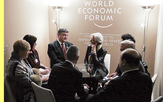 Poroshenko e a sua protectora Lagarde.