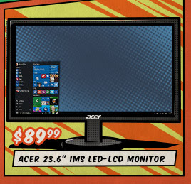 "Acer 23.6"" 1ms LED-LCD Monitor"
