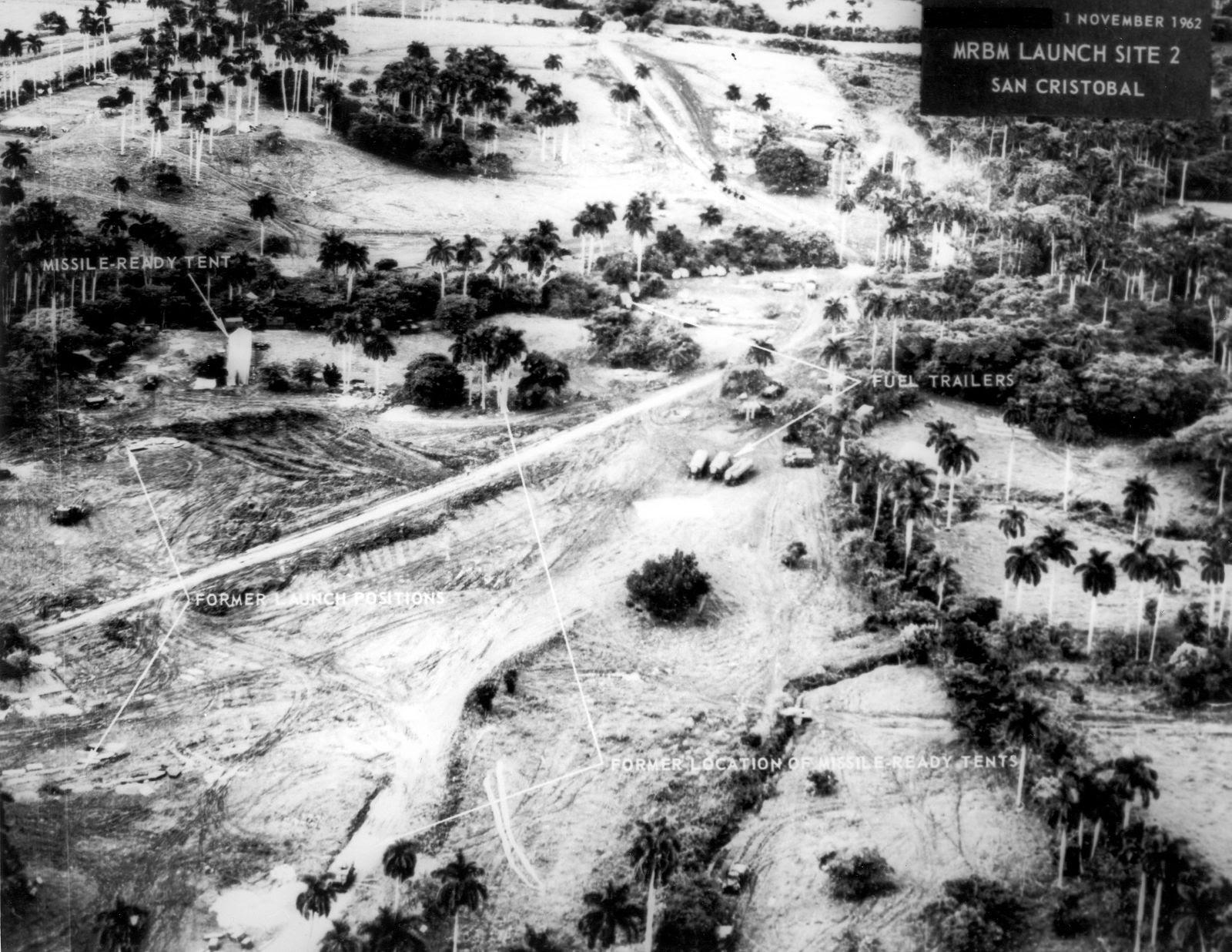 Las fotografías tomadas por los aviones U-2 demostraron la construcción de silos soviéticos en suelo cubano