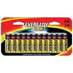 24-pack Energizer Eveready Gold Alkaline Batteries (AA or AAA)
