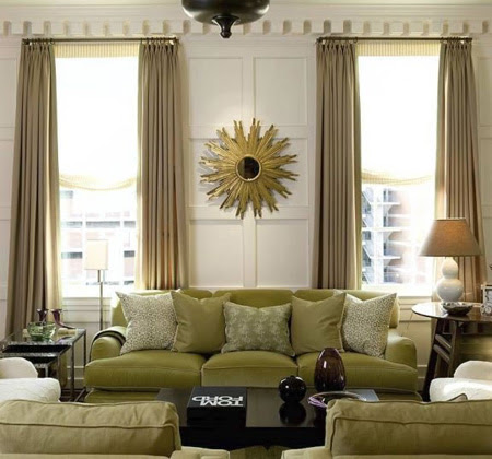 Contemporary Living Room Curtains - interior decorating accessories