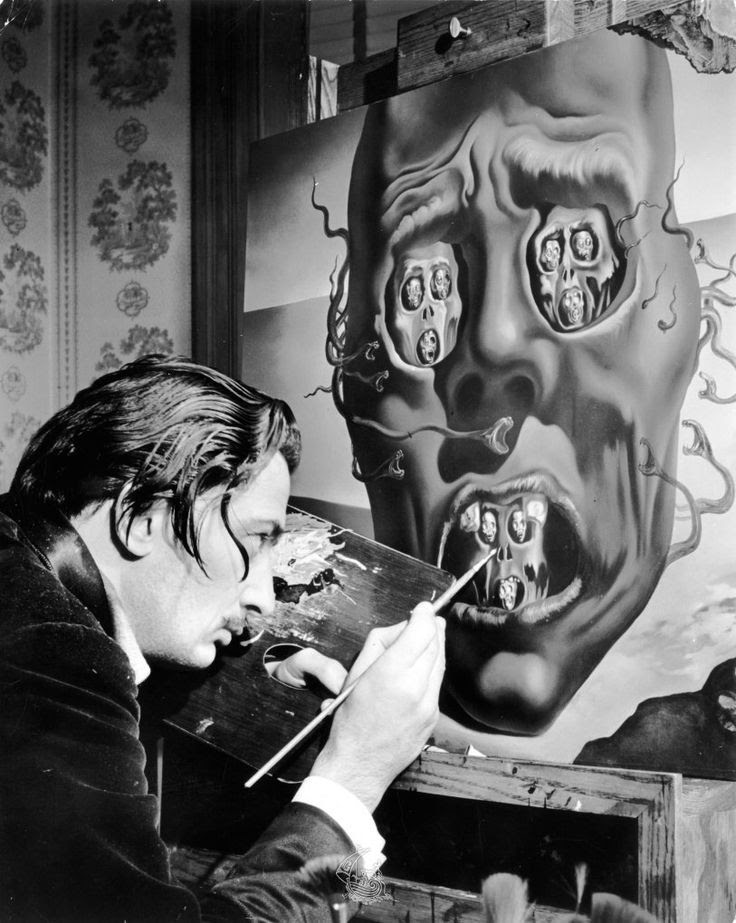 Salvador Dalí painting The Face of War (1941)