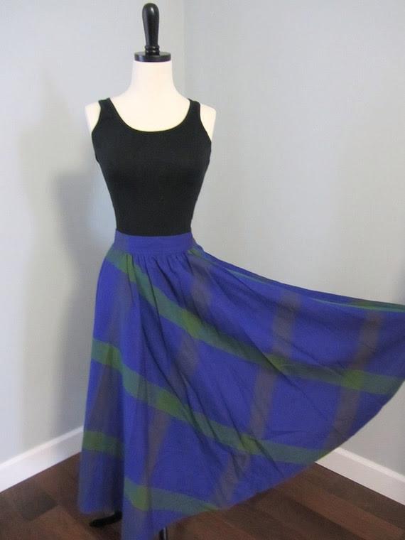 Vintage Bright Tartan Skirt