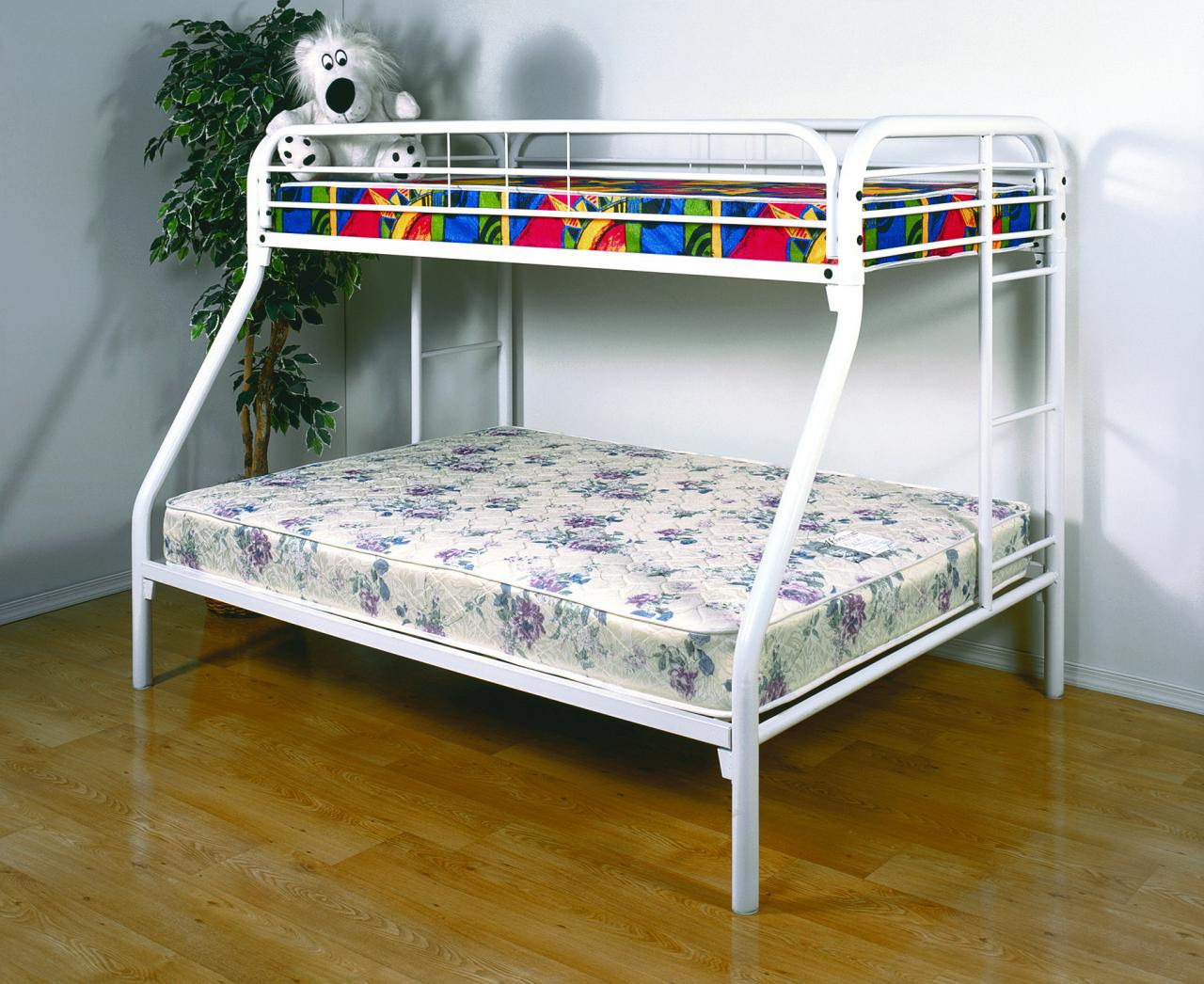 Save Big On Twin Over Full Metal Bunk Bed - White