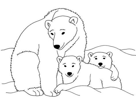 polar bears printable coloring page instant