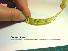 Measuring using flexible tape measure