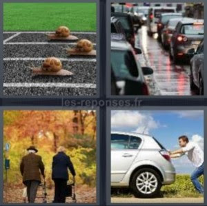 Solution 4 Images 1 Mot Escargots Embouteillage Vieux