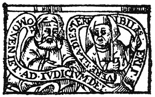 Woodcut of Nicholas and Perenelle Flamel (pic: Wikimedia Commons)