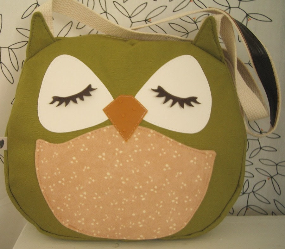 Sadie the Owl Applique Canvas Tote Purse Handbag Shoulder bag