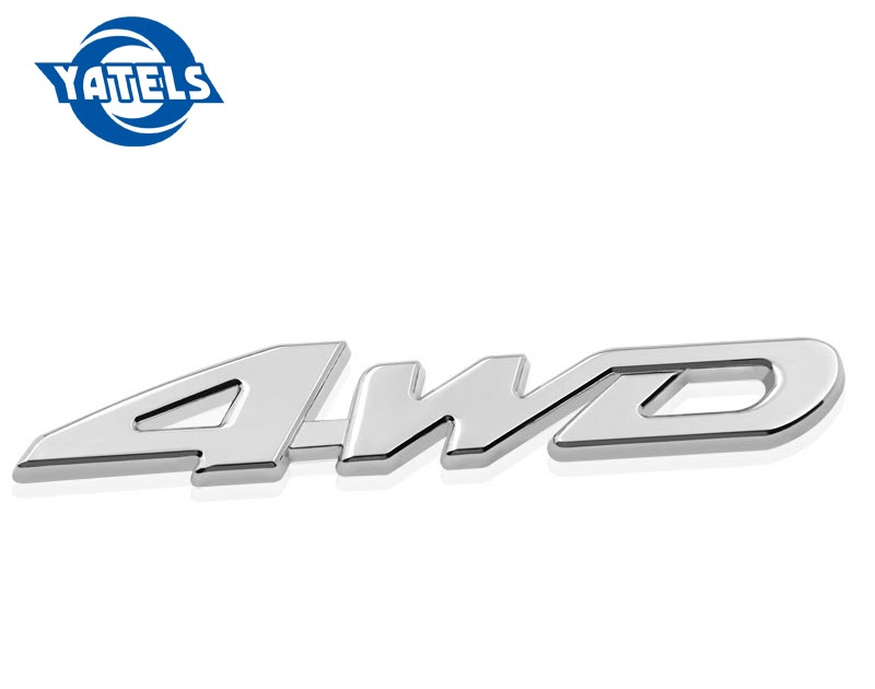 Aimoll Replacement for Chrome Auto Tuning 4X4,3D Decal Emblem SUV 4wd Dodge Ford Jeep Grand Cherokee Wrangler Compass Sticker Liberty Nameplate