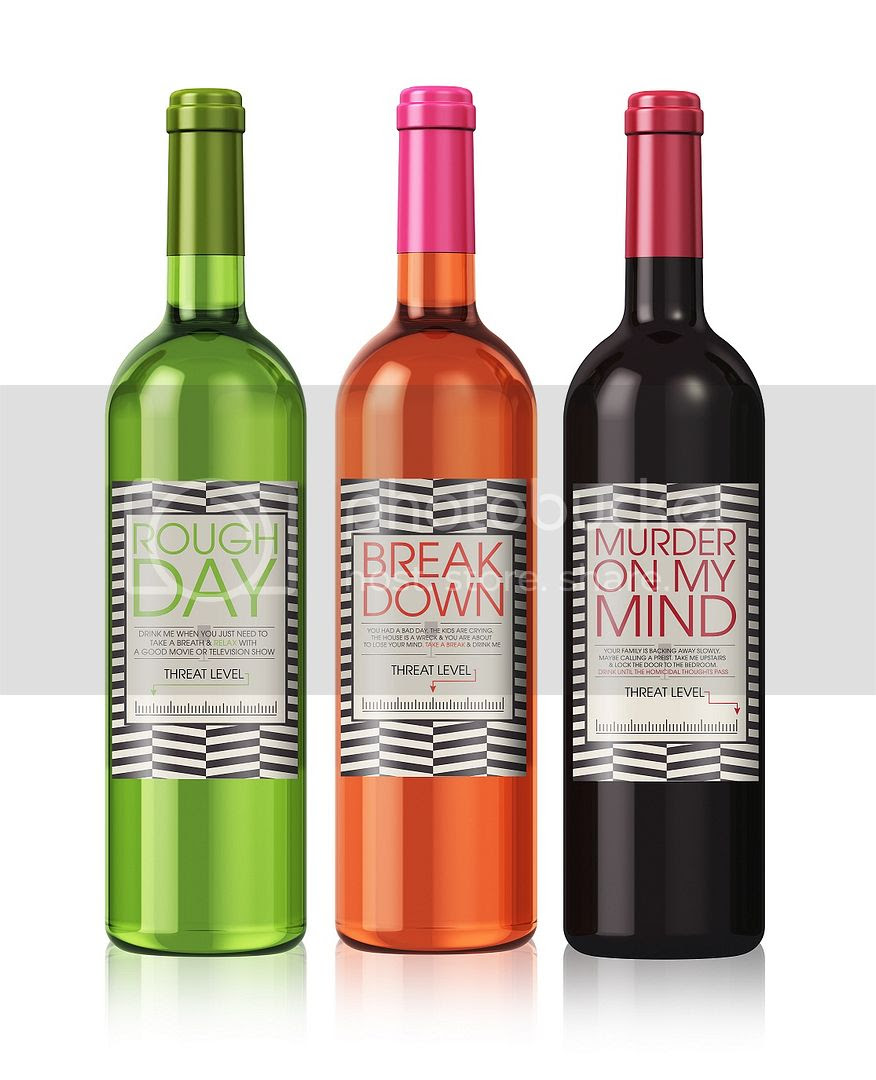 Cheer Up Wine Label Set