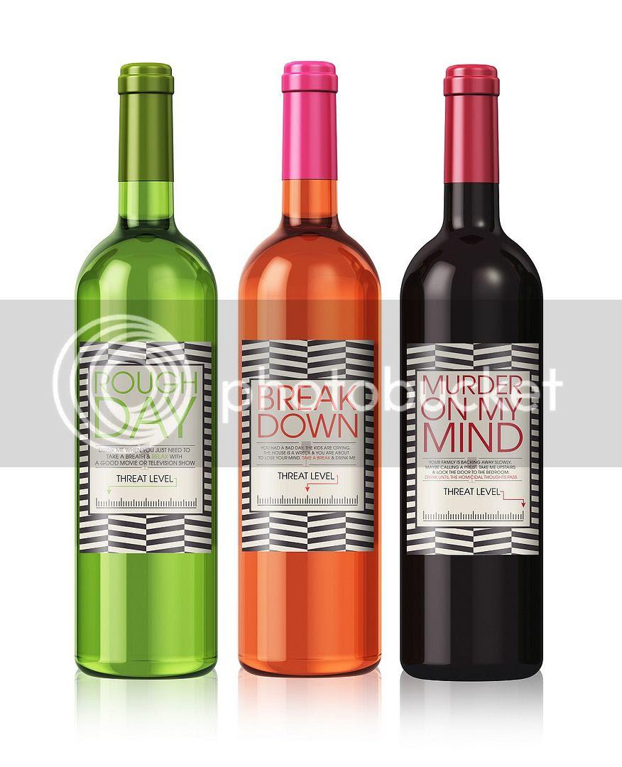 Cheer Up Wine Label Set