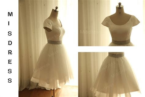 Vintage Inspired Ivory Tulle Wedding Dress Bridal By