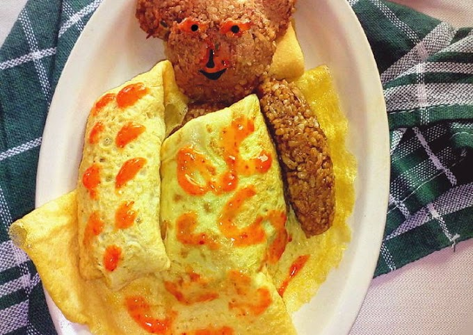 Resep Omurice (Nasi Goreng Omelet) Bikin Nagih