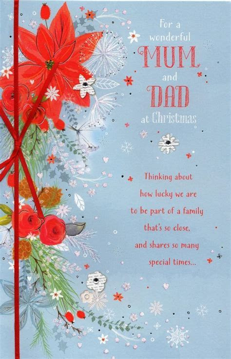 Mum & Dad Traditional Christmas Greeting Card   Cards