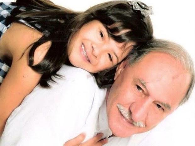 Fernandino Guimarães pai filha Marina síndrome de down Uberaba (Foto: Fernandino Guimarães/ Arquivo Pessoal)
