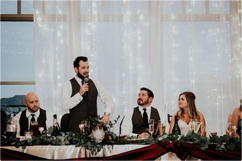 Wichita Noah's Wedding Burgundy Marsala Gold Wichita