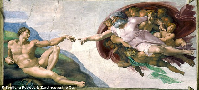 The original 'Creation of Adam' is one of the most famous fresco's of what is widely considered Michelangelo's greatest work