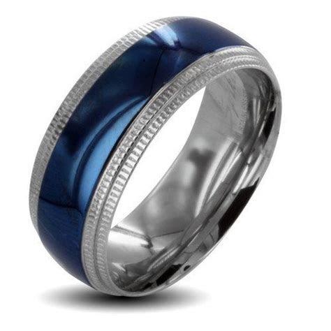 walmart men's silver spinner wedding bands   West Coast