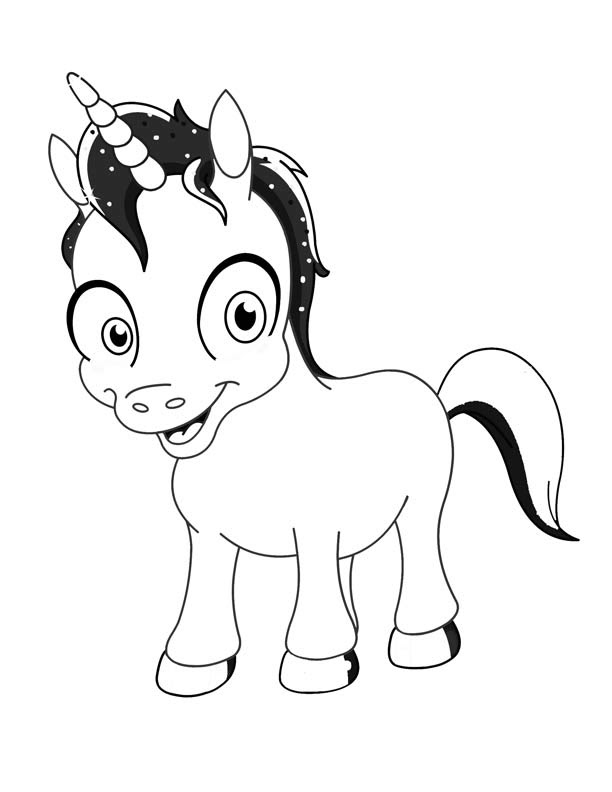 Baby Unicorn Coloring Pages at GetColorings.com | Free ...