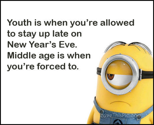 Funny Happy New Years Eve Minion Quote Pictures Photos And Images