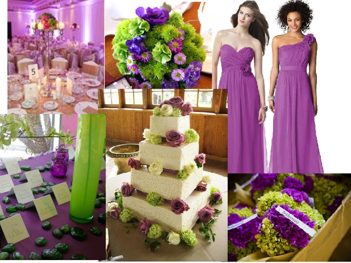 Wedding Ideas Purple And Green Wedding