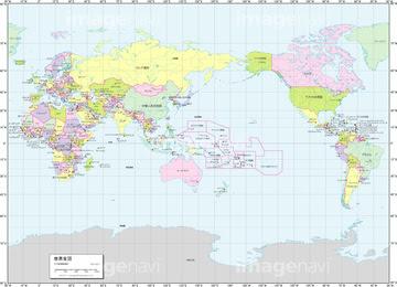 世界地図 フリー 国名入り