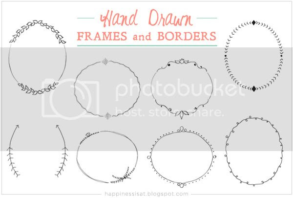 Hand drawn graphic elements for sale on Creative Market - Frames and borders