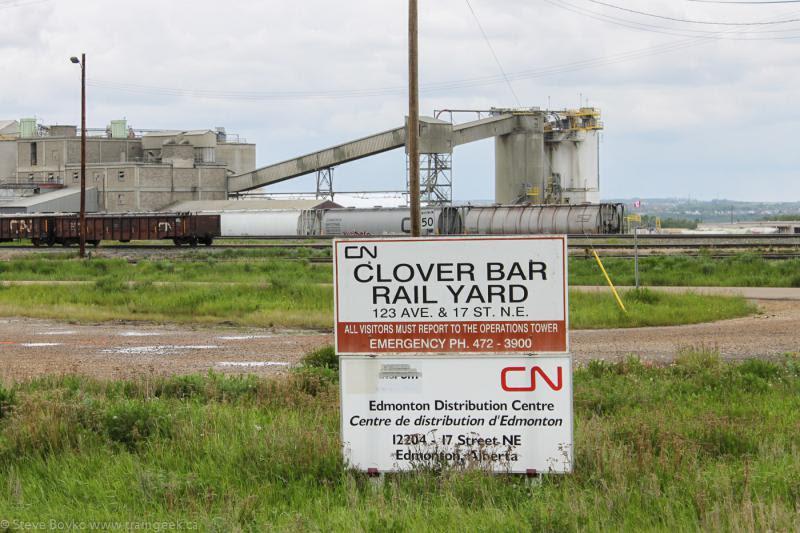 CN Clover Bar yard