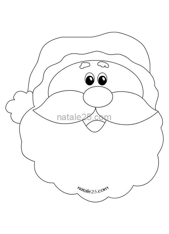 Disegno Di Babbo Natale Da Colorare Natale 25